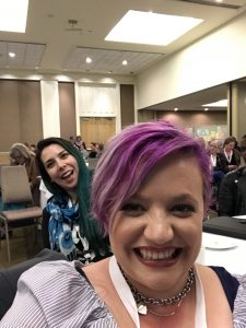 A selfie of Alicia & Jeanine at the conference