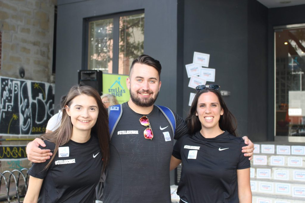 Members of Stella's Chase Organizing Committee (L to R: Kristy, Kyle, Vanessa)