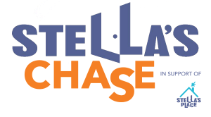 Stella's Chase Event Logo in purple and orange