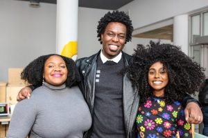 Group photo, from left to right: Zannalyn, Asante and Jennille
