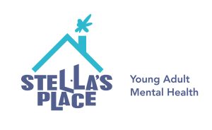 Stella's Place purple and blue logo with tagline 'Young adult mental health'