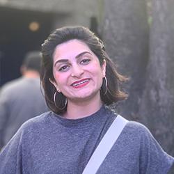 A portrait of Sara Khatri